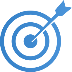 Data and Analytics Business Vision Bullseye icon