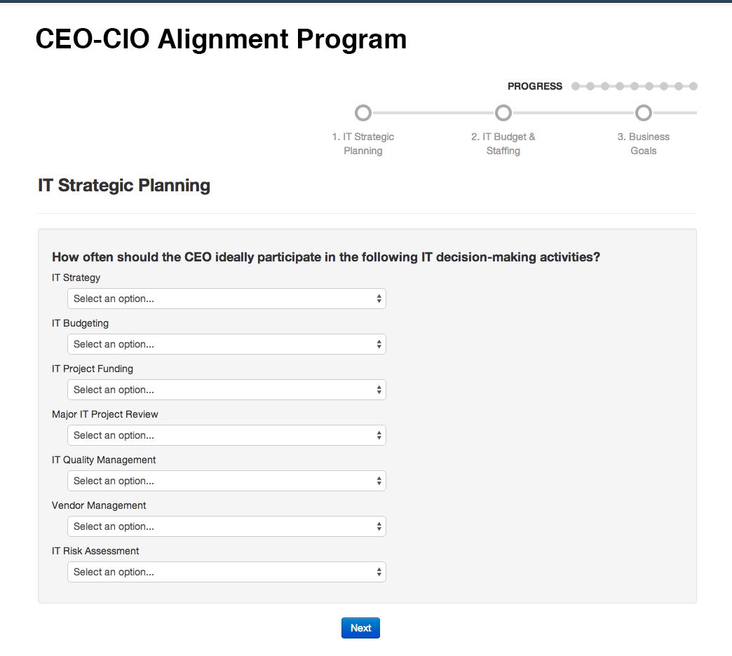 ceo cio alignment report info tech research group